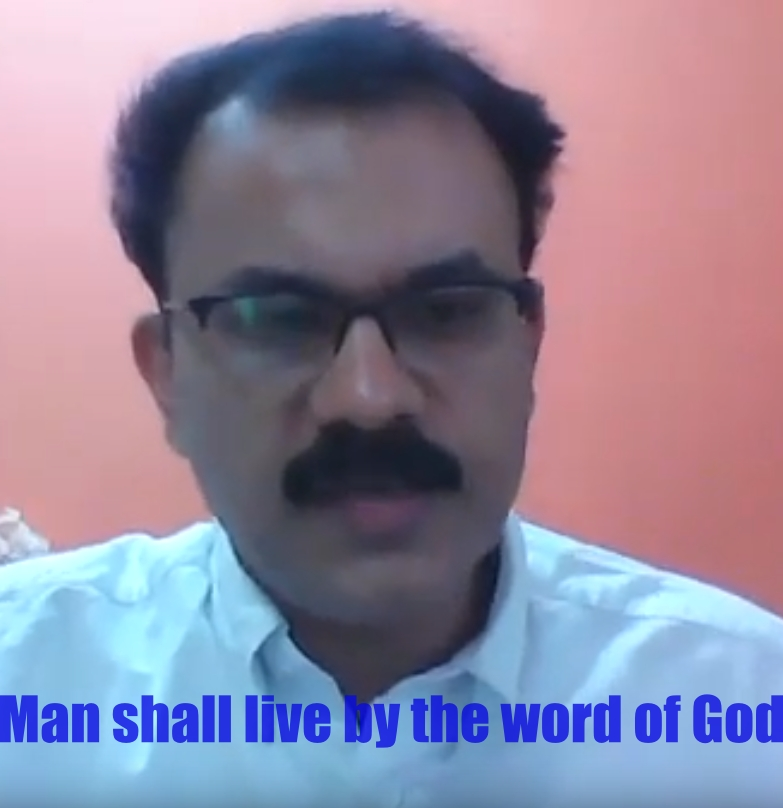 man shall live by the word of God